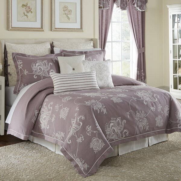 Liliana 100% Cotton 4 Piece Comforter Set by Croscill Home Fashions